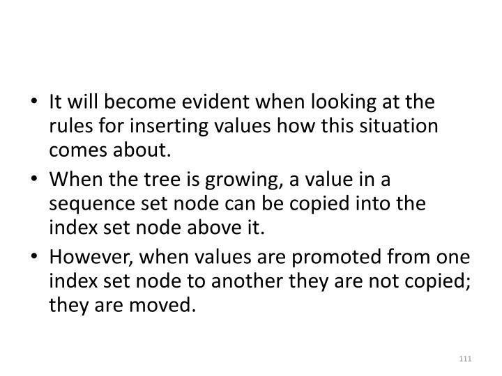 It will become evident when looking at the rules for inserting values how this situation comes about.