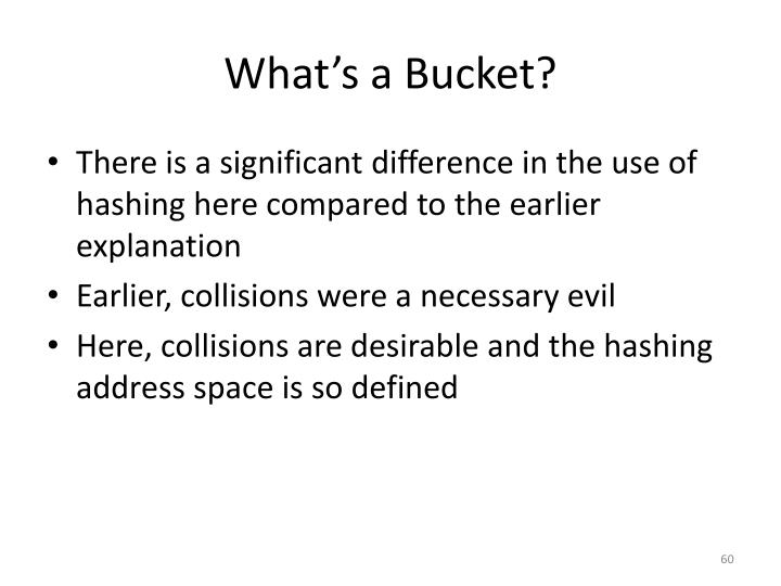 What's a Bucket?