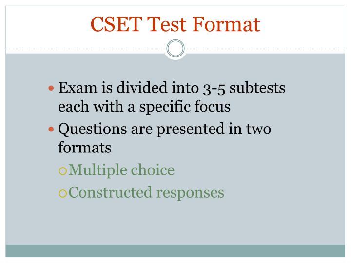 CSET Test Format