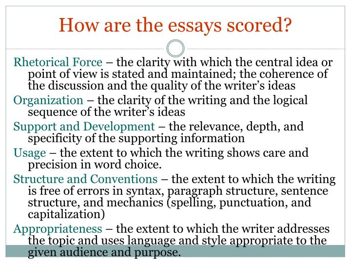 How are the essays scored?