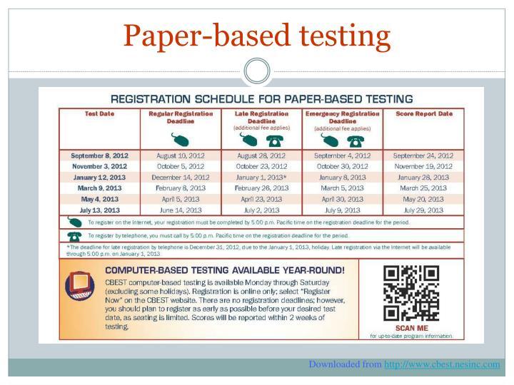 Paper-based testing