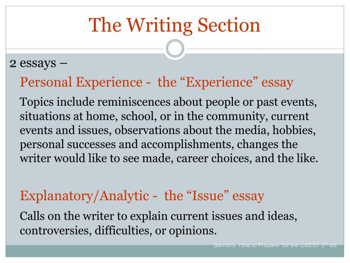 The Writing Section