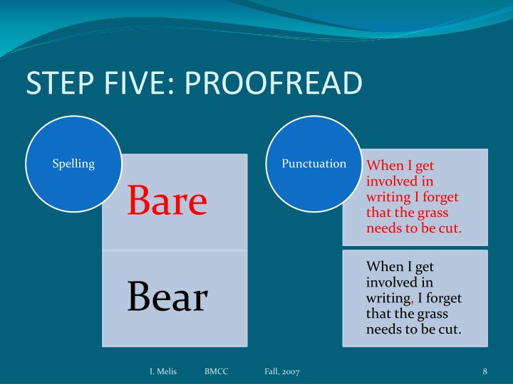 STEP FIVE: PROOFREAD