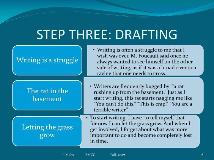 STEP THREE: DRAFTING