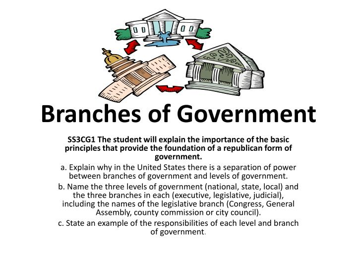 branches of government n.