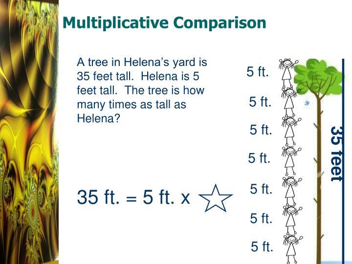 Multiplicative Comparison