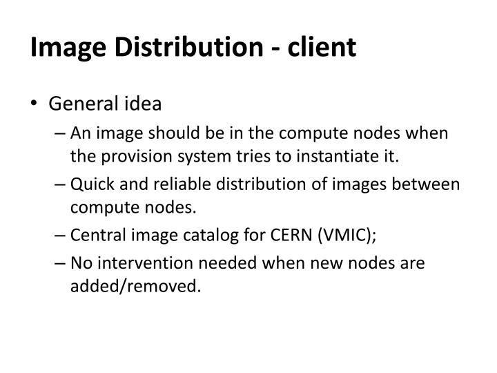Image distribution client