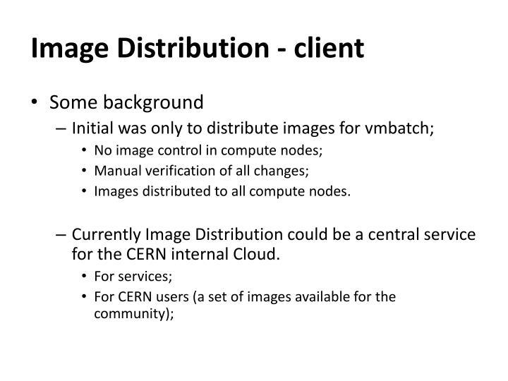 Image distribution client1