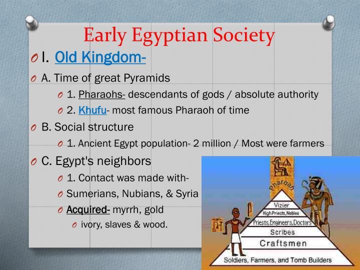 Early egyptian society
