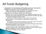 all funds budgeting