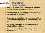 trb study recommendations