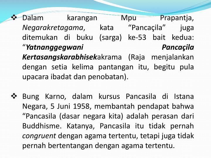 Dalam karangan Mpu Prapantja,