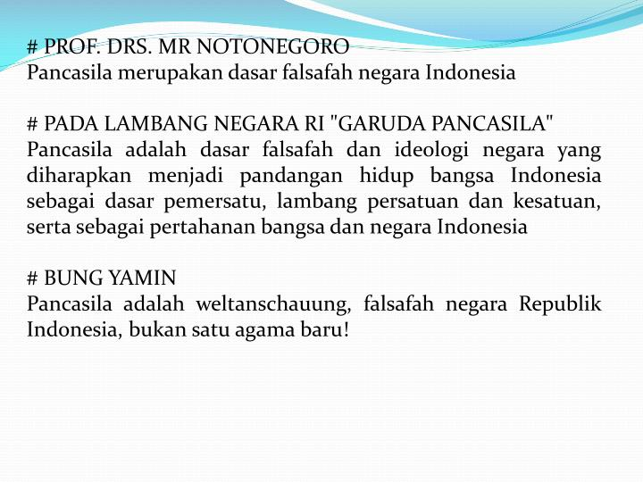 # PROF. DRS. MR NOTONEGORO