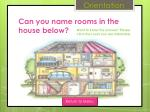 can you name rooms in the house below