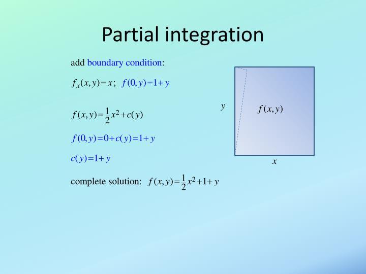 Partial integration
