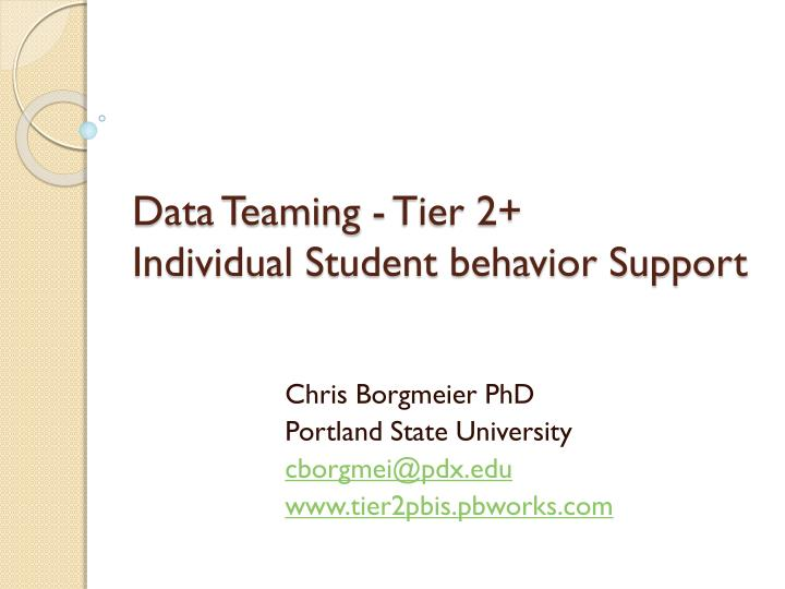 data teaming tier 2 individual student behavior support n.