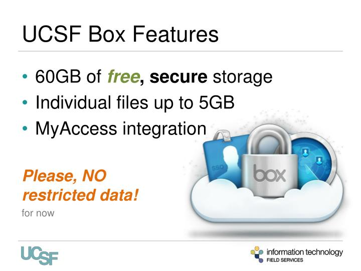 Ucsf box features