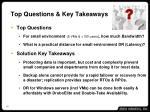 top questions key takeaways