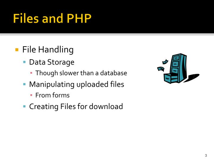 Files and php