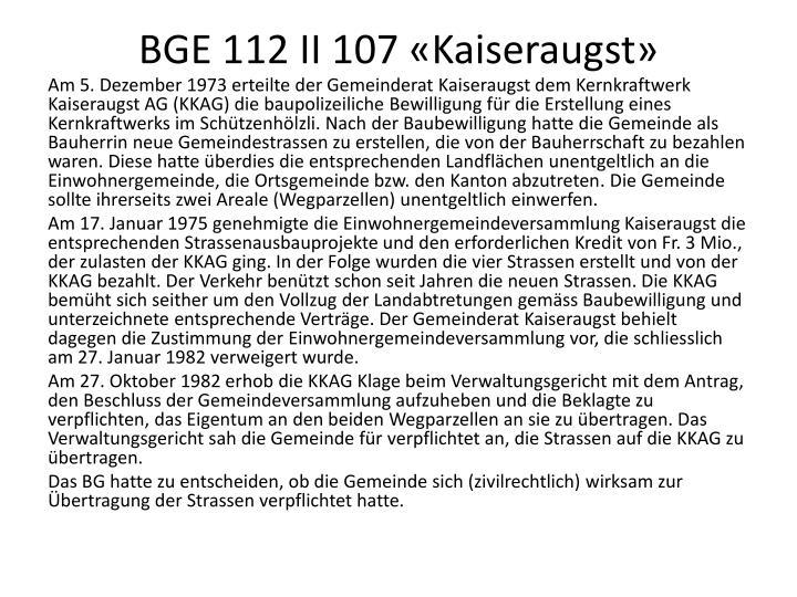 BGE 112 II 107 «