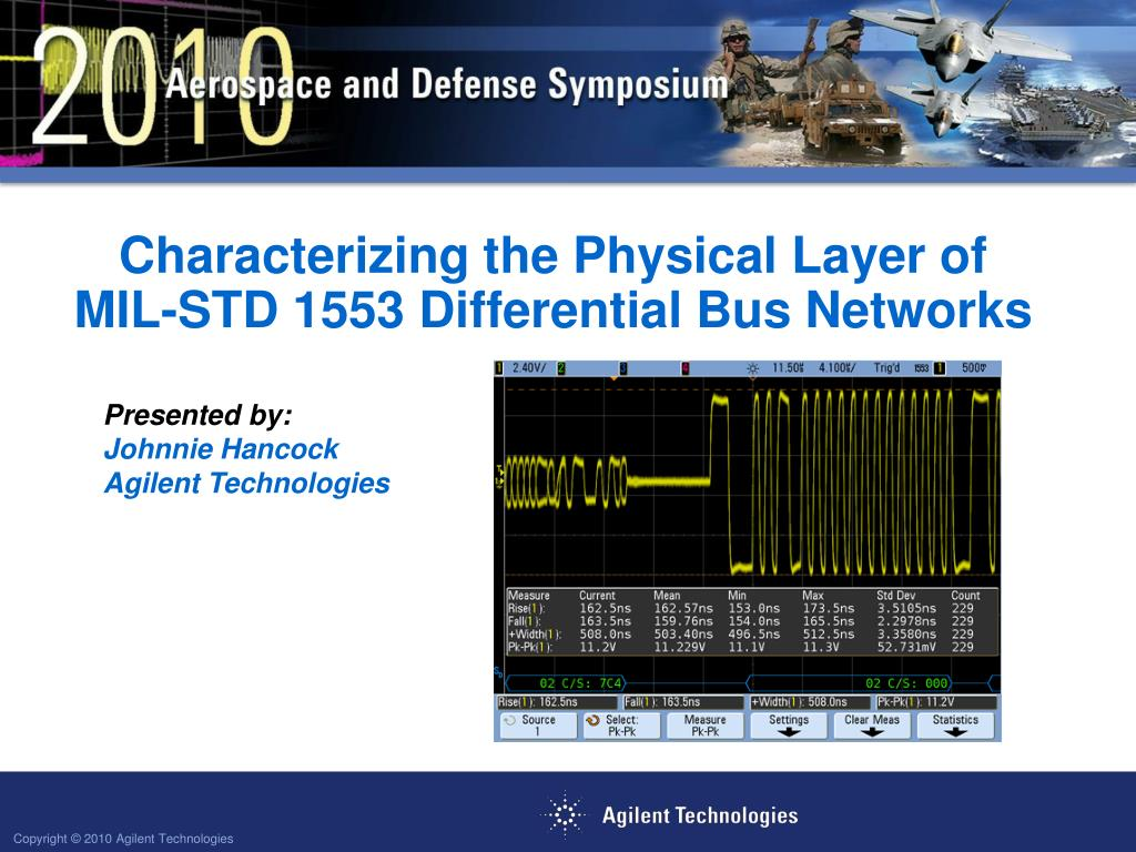 ppt characterizing the physical layer of mil std 1553 differential