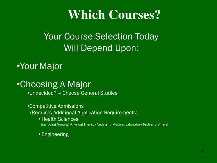 Which Courses?