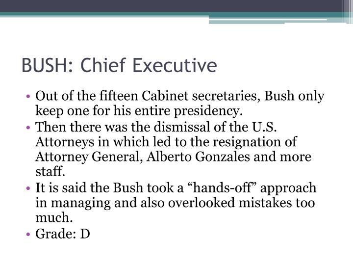 BUSH: Chief Executive