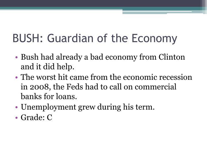 BUSH: Guardian of the Economy