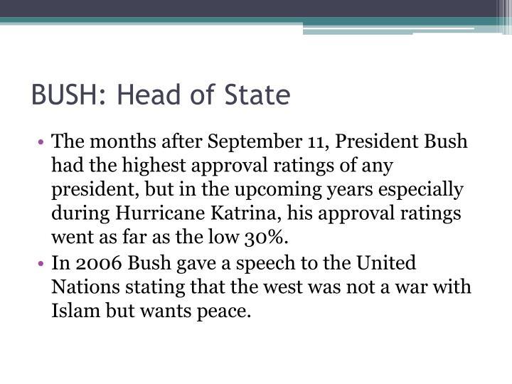 BUSH: Head of State