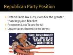 republican party position