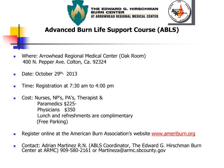 Advanced Burn Life Support Course (ABLS)