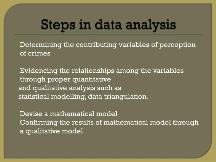 Steps in data analysis