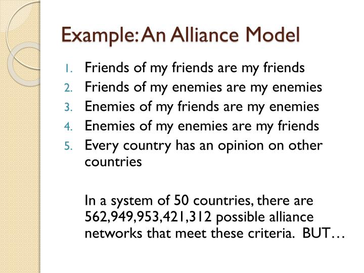 Example: An Alliance Model