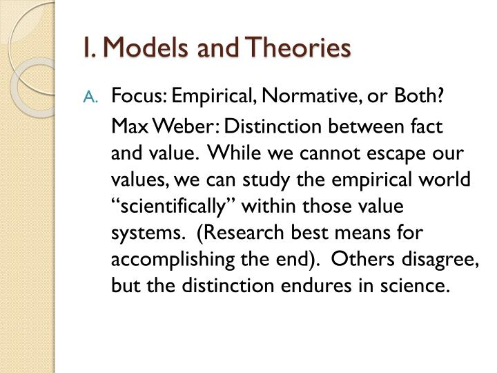 I models and theories