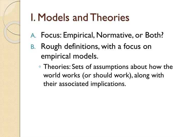 I models and theories1