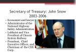 secretary of treasury john snow 2003 2006