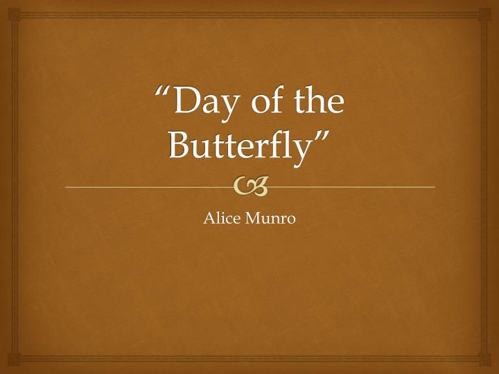 day of the butterfly n.