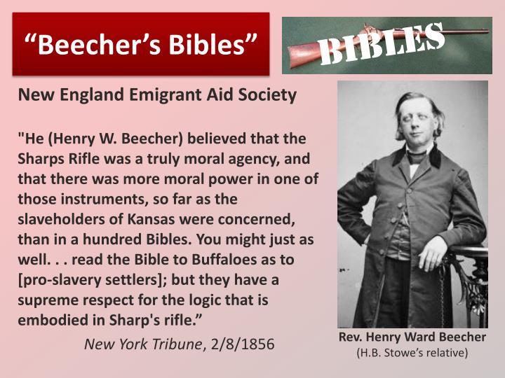 """""""Beecher's Bibles"""""""