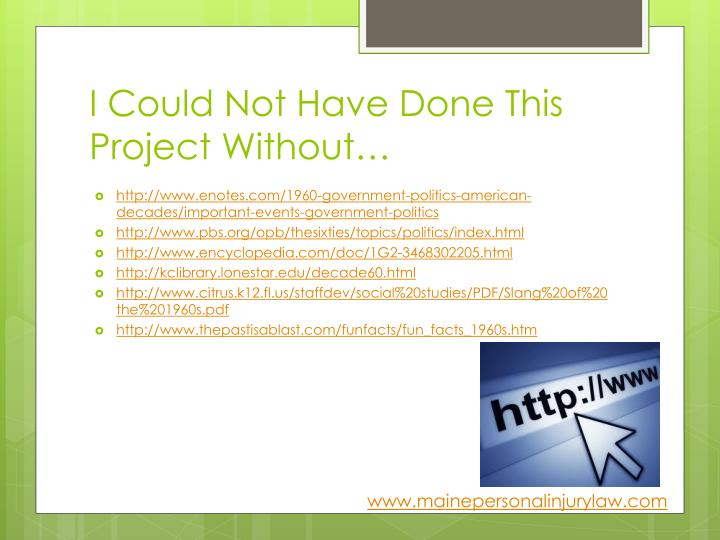 I Could Not Have Done This Project Without…