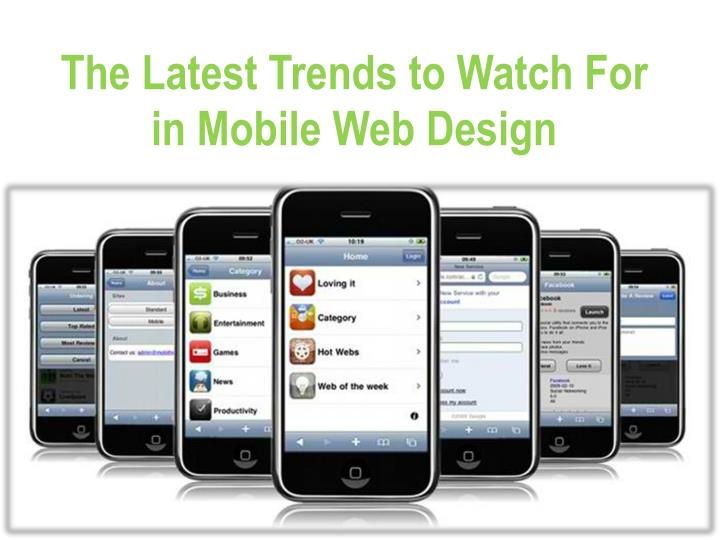 the latest trends to watch for in mobile web design n.