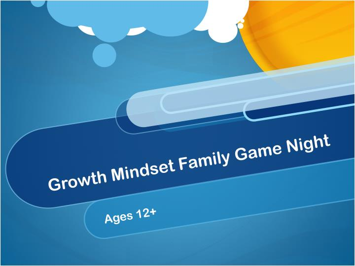 growth mindset family game night n.