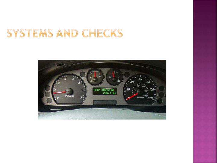 systems and checks