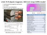 lhec r r dipole magnets 400 mm long cern model