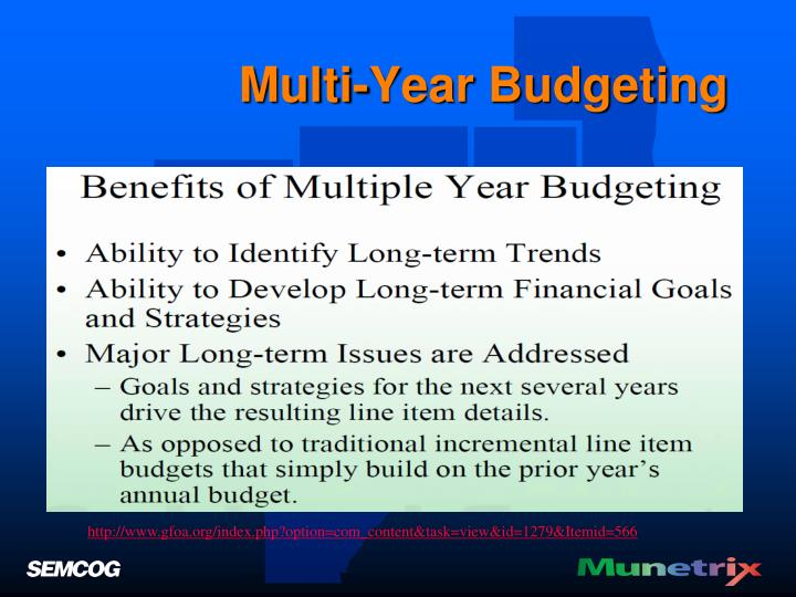 Multi-Year Budgeting