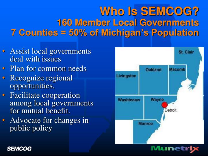 Who Is SEMCOG?