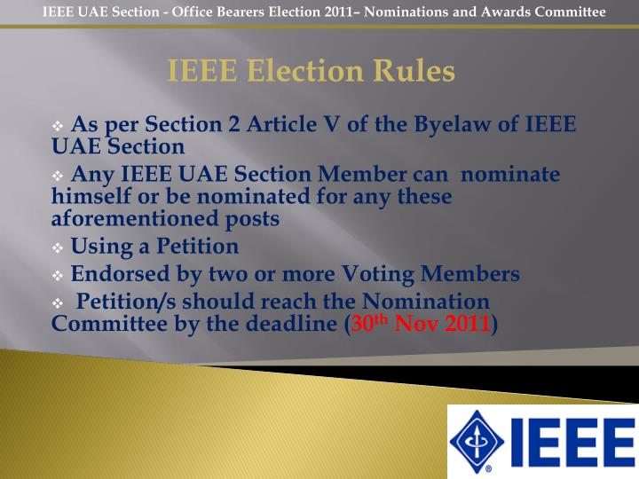 IEEE Election Rules