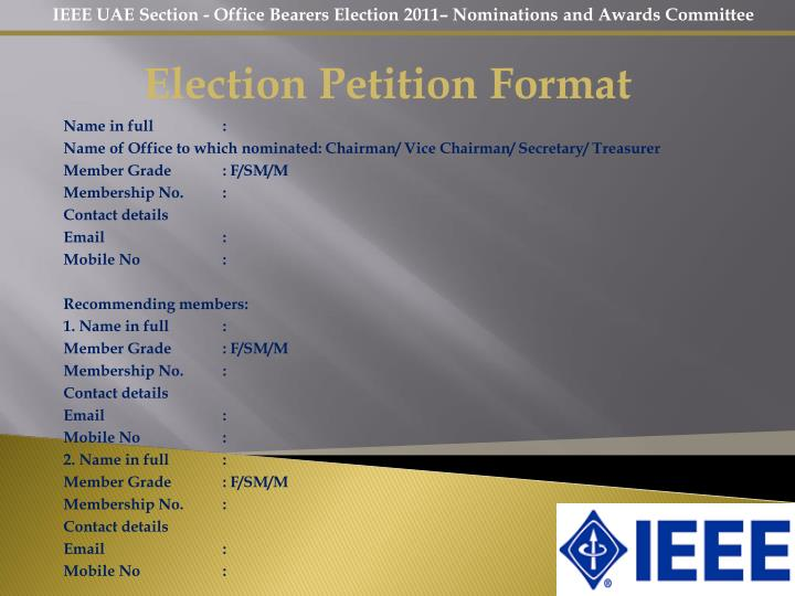 Election Petition Format