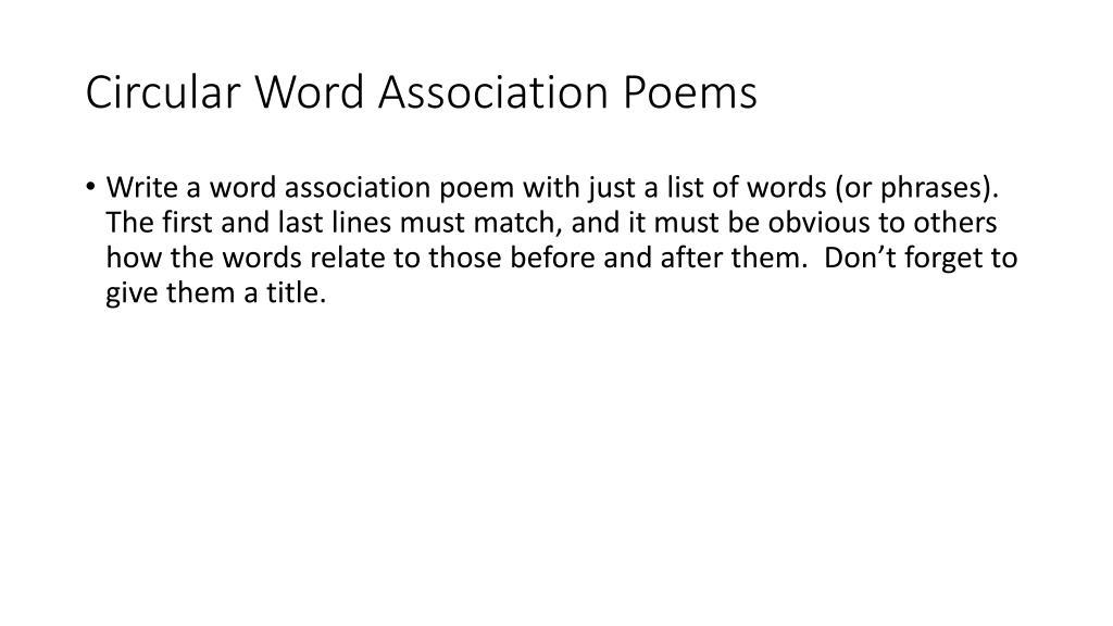 Association list word Word Association