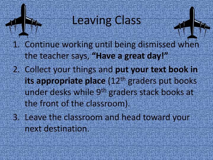 Leaving Class