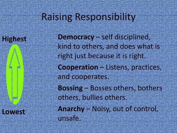 Raising Responsibility